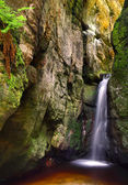 Small adrspach waterfall — Stock Photo