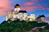 Slovakia Castle - Trencin at sunrise — Foto Stock