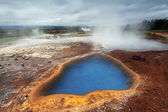 Geothermal activity near Geysir in Iceland — Stock Photo