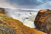 Gullfoss waterfall , Iceland — Stockfoto