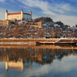 Embankment of the Danube in Bratislava — Stock Photo