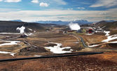 Geothermal power energy station — 图库照片