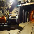 Stock Photo: Historical gold, silver, copper mine with machine