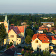 Aerial view of village Cifer — Stock Photo