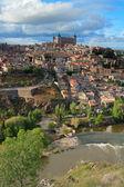 Toledo eski şehrin panoramik görünümü. i̇spanya — Stok fotoğraf