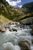 Mountain stream in Alps - Trift — Stock Photo
