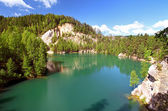 Lake in the national park of Adrspach — Stock Photo