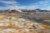 Mudpot in the geothermal area Hverir, Iceland — Stock Photo