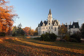 Castle and park in Budmerice - Autumn view - Slovakia — Stock Photo
