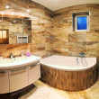 Modern house bathroom interior — Stock Photo