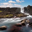 Stock Photo: Oxararfoss waterfall in Thingvellir, Iceland