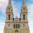 Foto de Stock  : Zagreb, cathedral in Croatia