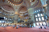 Inside the islamic Blue mosque in Istanbul, Turkey — Foto de Stock