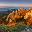 Stock Photo: Rocky peak at sunset - Rozsutec