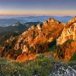 Rocky peak at sunset - Rozsutec — Stock Photo