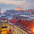 Stock Photo: Bratislavpanoram- Slovaki- Eastern Europe city