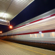 Train moving in station — Stock Photo