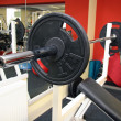 Diverse equipment and machines at the gym room — Stock Photo