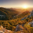 Stock Photo: Nature mountain sunset - panoramic