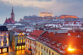 Bratislava panorama - Slovakia - Eastern Europe city — Stock Photo