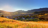 Rural scene in Slovakia Tatras - village Zuberec — Stock Photo