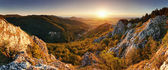 Nature mountain sunset - panoramic — Stock Photo