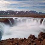 godafoss wodospady z góry w Islandii — Zdjęcie stockowe