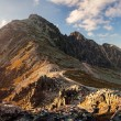 Sunset in mountains in High Tatras, Slovakia — Stock Photo