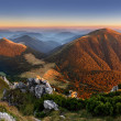 Autumn Slovakia mountain panorama — Stock Photo #32407603