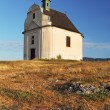 Stock Photo: Holy cross baroque chapel on the hill Siva brada - Spis