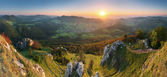 Landscape with rocky mountains at sunset in Slovakia - Eastern E — Stock Photo