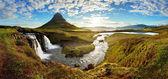 Panorama - Iceland landscape — Stock Photo