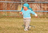 Çalışan mutlu çocuk — Stok fotoğraf