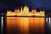 Budapest - Hungarian parliament — Stock Photo