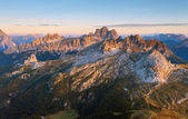View from the top of Lagazuoi — Stock Photo