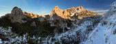 Tatra mountain at sunset - West Tatras, Rohace — Stock Photo