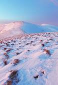 Dağlar kış manzara — Stok fotoğraf