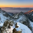 Beautiful sunrise in winter Tatra mountain - Slovakia — Stock Photo