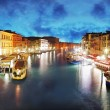 Venice - Grand Canal from Rialto bridge, Italy — Stock Photo
