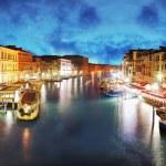 Veneza - grande canal da ponte de rialto, Itália — Foto Stock