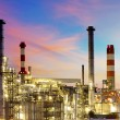 Factory at sunset - oil refinery — Stock Photo #33749273
