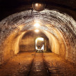 Stock Photo: Underground train in mine