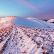 Winter mountains landscape at sunset — Stock Photo
