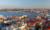 Istanbul Panorama at sunset — Stock Photo