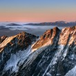 Sunrise in Tatra mountain — Stock Photo