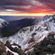 Stock Photo: Sunset in mountains