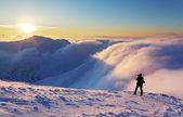 Dağ silueti — Stok fotoğraf
