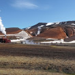 Stock Photo: Geothermal power energy station