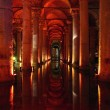 Underground basilica cistern. — Stock Photo