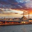 Istanbul at sunset, Turkey — Stock Photo